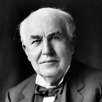 Thomas Alva Edison, January 1922; photo by Louis Bachrach