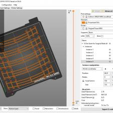 Screen capture of the PRUSA slicer parameter